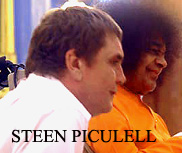 Steen Piculell with Sai Baba