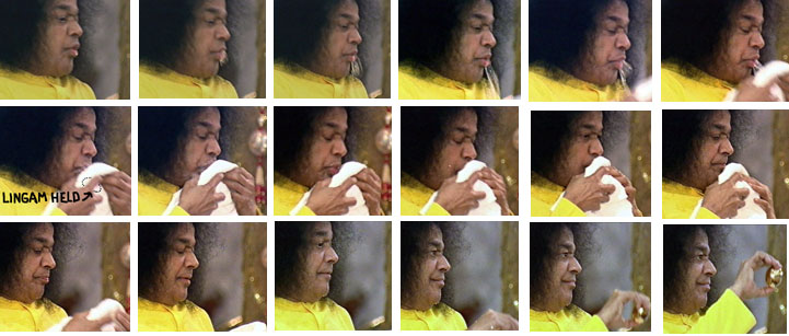 Process of supposed 'regurgitation' of the lingam by Sathya Sai Baba