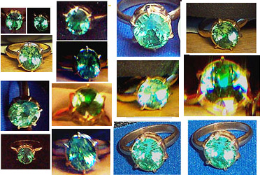 Different photos of ring given to Robert Priddy in 1986