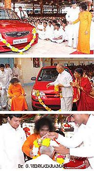 Sai gives cars to VIP devotees