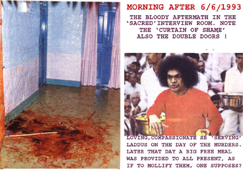 Sai Baba on the morning after the murders